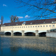 Dam on the Isar — Stock Photo