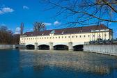 Dam on the Isar — Stock Photo