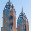 Twin tower in Dubai — Stockfoto
