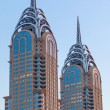 Twin tower in Dubai — Stock Photo