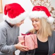 Stock Photo: Mother and Son and Christmas presents