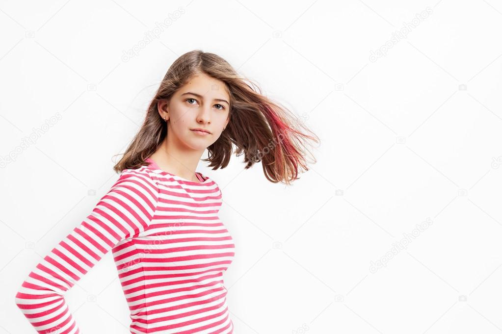 Blone adolescente pelo largo