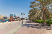 Promenade at Dubai Creek — Stock Photo