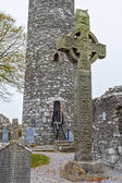 Gaelic Ancient Monasterboice Monastery — Stock Photo