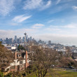 Skyline of Seattle in daylight — Stock Photo
