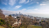 Skyline of Seattle in daylight — Stok fotoğraf
