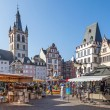 Marketplace in Trier — Stock Photo