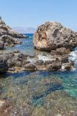 在克里特岛的海岸线 — 图库照片