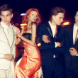 Casino night. Anna and the boys — ストック写真