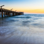 Sea Fishing Sunset — Stock Photo