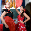 Spanish dancers in flamenco party — Stock Photo