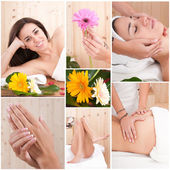 Beautiful woman in spa treatment or sauna relax — Stock Photo