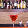Red martini drink cocktail  — Stock Photo