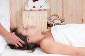 žena s masáž — Stock fotografie