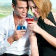 Couple of lovers drinking — Stock Photo #30811089