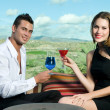 Young couple in a bar — Stock Photo