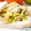 Salad sandwich with tuna — Stock Photo #30813477