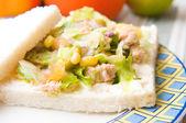 Salad sandwich with tuna — Stock Photo