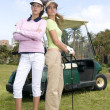Two golf player with golf car — Stock Photo #31323373