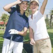 Stock Photo: Golf players during a golf play