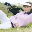 Beautiful womgolf player — Stock Photo #31323555
