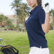 Beautiful player golf — Stock Photo #31323599
