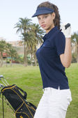 Beautiful player golf — Stock Photo