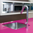 Tap in modern kitchen — Stockfoto