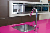 Tap in modern kitchen — Foto de Stock