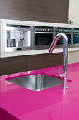 Tap in modern kitchen — Foto Stock