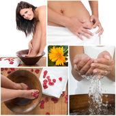 Relax and spa beauty and bodycare composition — Stock Photo