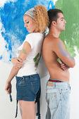 Couple painting — Stock Photo