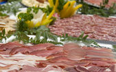 Spanish ham and cured meat — Stock Photo