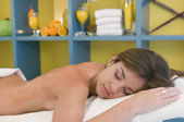 Woman getting massage — Foto Stock