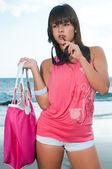 Woman in the beach — Stock Photo