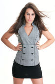 Elegant woman wearing vest — Stock Photo