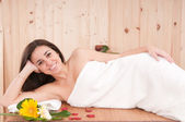 Woman in spa center having relax — Stock Photo
