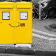 Smiling postbox — Stock Photo