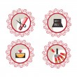 Beauty and makeup icons — Stock Vector