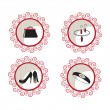 Fashion and beauty vector icons — Stock Vector