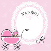 Baby card - Its a girl theme — Stock Vector