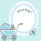 Baby card - Its a boy theme — Stock Vector