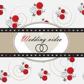 Video de fondo de la boda — Vector de stock