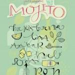 Постер, плакат: Mojito recipe