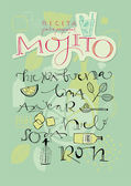 Mojito recipe — Stock Vector