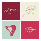 Ilustración de amor escrita a mano. eps vector archivo. hola res jpeg incluido. — Vector de stock