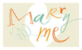 Calligraphic Marry Me — Stockvector
