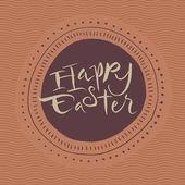 Tarjeta caligráfico de feliz pascua — Vector de stock