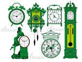 Clock vectors — Stock Vector