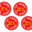 Sales discount badges — Stock Vector